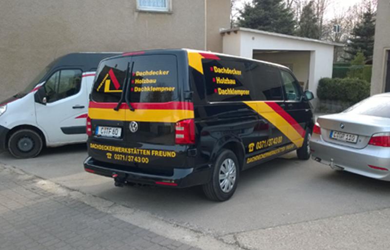 Fahrzeugbeschriftung durch die Firma Orgis